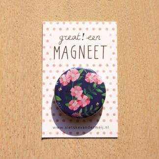 Bloemen en bijtjes magneet