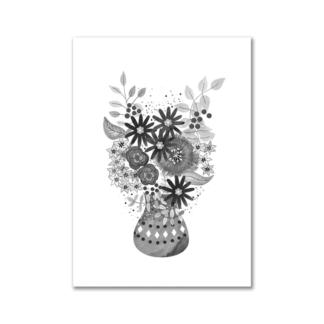Bloemen zwart-wit